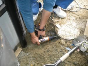 竪樋接続の写真1